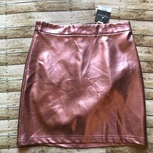Topshop 🌵 pink foil metallic skirt